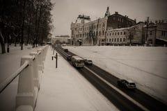 Le trafic sur la rue Photo libre de droits