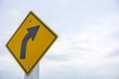 Le trafic sur le chemin de courbe Photos stock