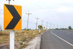 Le trafic sur le chemin de courbe Photos libres de droits