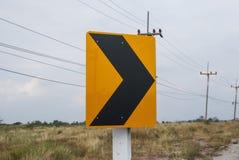 Le trafic sur le chemin de courbe Image stock