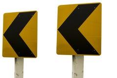 Le trafic sur le chemin de courbe Image libre de droits