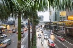 Le trafic sur les rues Photographie stock libre de droits