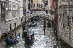 Le trafic vénitien Photographie stock libre de droits