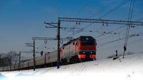 le train arrive 2 Photo stock