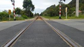 Le train dépiste le westport Photos stock