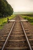 Le train dépiste rétro Photographie stock