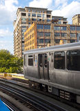 Le train d'EL de Chicago photos libres de droits