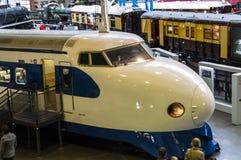 Le train de balle japonais dans le musée ferroviaire national à York, Yorkshire Angleterre Photos libres de droits