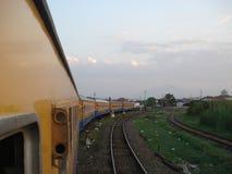 Le train de Blora Jaya Ekspres photo stock