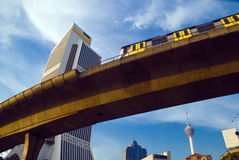 Le train de ciel de Kuala Lumpur Photo stock