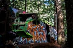 Le train de graffiti assouvissent dans Whistler Photographie stock libre de droits