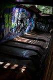 Le train de graffiti assouvissent dans Whistler Images libres de droits