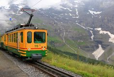 Le train de la Suisse Photos libres de droits