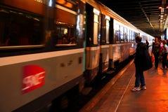 Le train de TGV Photographie stock