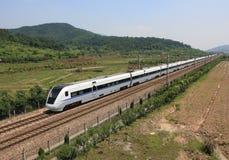 Le train de voyageurs à grande vitesse Images stock