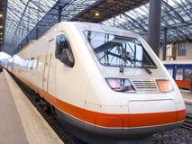 Le train de voyageurs Photographie stock libre de droits