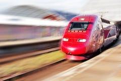 Le train de voyageurs rapide moderne. Photographie stock libre de droits