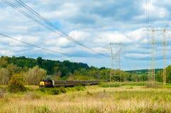 Le train de voyageurs rural image libre de droits