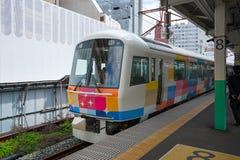 Le train guidé Kirakira Uetsu à la station de Niigata photo libre de droits