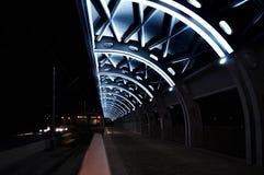 Le train se tenant à la station finale de l'aéroport de Koltsovo à Iekaterinbourg, Russie Photographie stock libre de droits