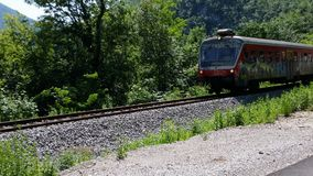 Le train vient Photographie stock