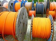 le traitement différé câble en bois Photos stock