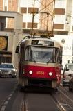 Le tram vient Photographie stock libre de droits