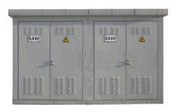 Le transformateur congelé de courant électrique Photographie stock