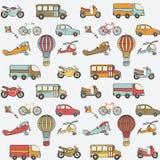 Le transport badine le modèle sans couture Photo stock