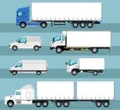 Le transport commercial de ville a isolé l'ensemble illustration de vecteur