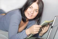 le travail à domicile Images libres de droits