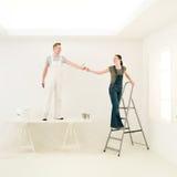 Le travail couple l'équipe image stock