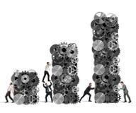 Le travail d'équipe établit le bénéfice d'entreprise illustration libre de droits