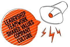 Le travail d'équipe de direction d'écriture des textes d'écriture a partagé la culture d'entreprise de valeurs Concept signifiant illustration de vecteur