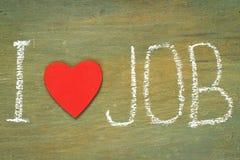 Le travail d'amour des textes i Images libres de droits
