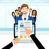 Le travail de candidat de recrutement de curriculum vitae illustration stock
