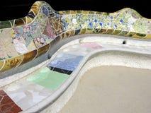 Le travail de Gaudi en stationnement Guell image stock