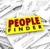 Le travail de location de Recuiter d'emploi de cartes de visite professionnelle de visite de trouveur de personnes Image stock