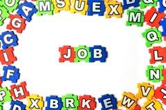 Le TRAVAIL de puzzle sur le fond blanc Photo libre de droits