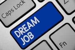 Le travail de rêve d'écriture des textes d'écriture Concept signifiant un acte qui est payé par du salaire et de te donner le cla illustration de vecteur