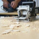 Le travail du bois usine le charpentier Photo stock