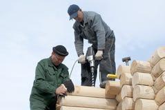 Le travail du charpentier Image stock