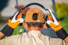 Le travail et r?duction du bruit image libre de droits