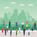 Le travail et travailleurs illustration libre de droits