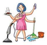 Le travail multi d'épouse de Chambre illustration de vecteur