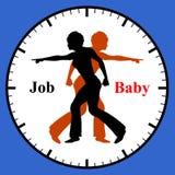 Le travail ou bébé Photos libres de droits