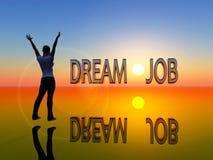 Le travail rêveur Photo libre de droits