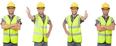 Le travailleur industriel d'isolement sur le blanc photo libre de droits