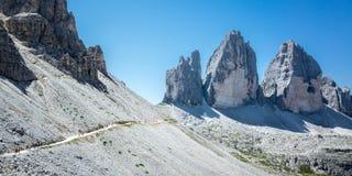 Le tre cime di Lavaredo Stock Photo