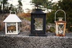 Le tre lanterne Immagini Stock